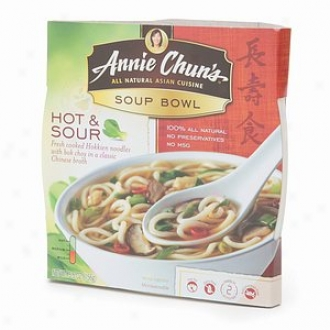 Annie Chun's All Natural Asian Cuisine, Soup Bowl, Hot & Slur