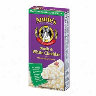 Annie's Homegrown Totally Natural Shells & White Cheddar, Retular Size