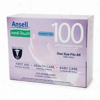 Ansell Medi-touch Dust Free Latex Disposable Glove