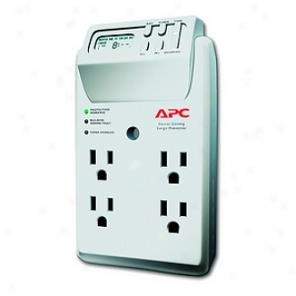 Apc P4gc 4-outlet Surge Protector Wall Tap With Lcd Timer