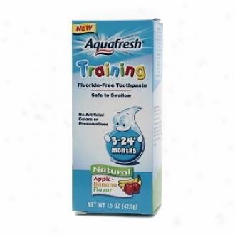Aquafresh Training Toothpaste, Fluoride-free, 3-24 Months