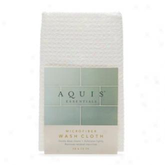 Aquis Essentials Microfiber Washcloth, Waffle White