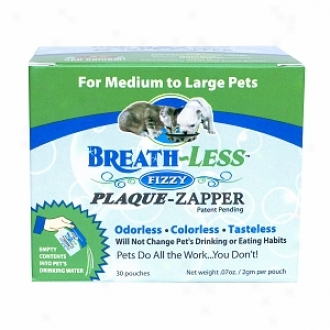 Ark Naturals Breath~less Brushless Fizzy Plaque-zapper For Dogs & Cats, Medium To Large