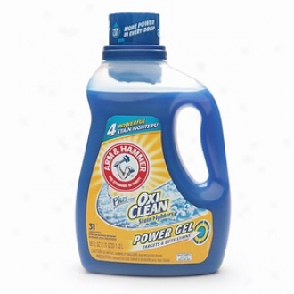 Arm &ammpp; Hammer Plus The Power Of Oxiclean Stain Fighters, Gel Laundry Detergent, 31 Loads