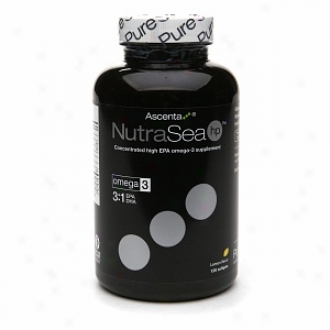 Ascenta Nutrasea High Potency Balanced Epa & Dha Omega-3 Supplemen5, Softgels, Lemon