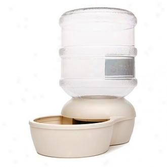 Aspen Pet Le Bistro Waterer 2.5 Gallon Capacity, Bleached Linen