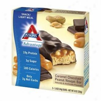 Aykins Advantage Snack Bars, 5, Caramel Chocolate Peanut Nougat