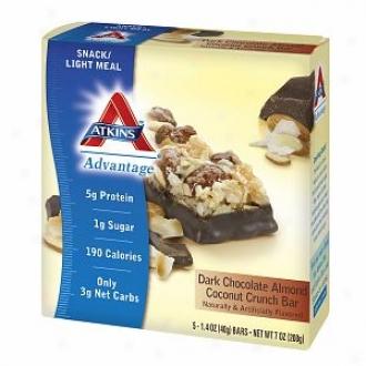 Atkins Advanatge Snack Bars, 5, Dark Chocolate Almond Coconut Crunch