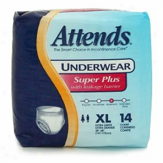 Attends Underwear Super Plus With Leakage Barrierd Extra Large 58-68in, 210-250lb