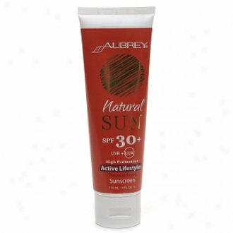Aubrey Organics Natural Sun  Sunscreen Spf 30+ For Active Lifestyles, Tropical