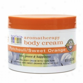 Aura Cacia Aromatherapy Body Cream, Patchouli & Sweey Orange