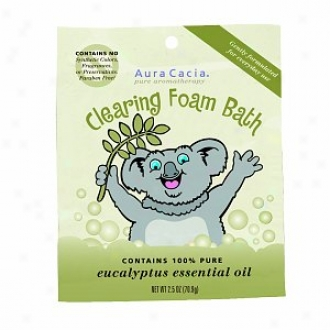 Aura Cacia Aromatherapy Foam Bath For Kids, Clearing/eucalyptus