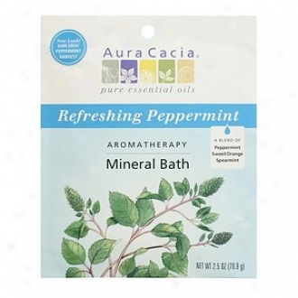 Aura Cacia Arpmatherapy Mineral Bath, Refreshing Peppermint