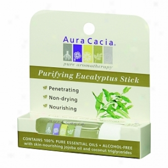 Aura Cacia Aromatherapy Roll-on Stick, Purifying Eucaly;tus