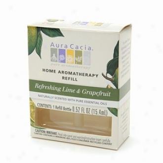 Effluence Cacia E1ectric Aromatherapy Air Freshrner Refill, Refreshing Lime & Grapefruit