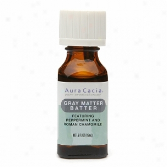 Aura Cacia Pure Aromatherapy Essential Oil, Gray Matter Batter