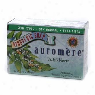 Auromere Ayurvedic Soap, Tulsi-neem Moisturizing Formula