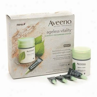 Aveeno Active Naturals Ageless Life Elasticity Recharging System, Night