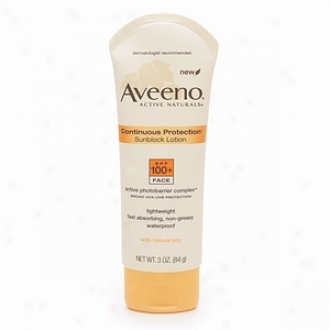 Aveeno Active Naturals Continous Protection Sunblock Face Lotion, Spf 100