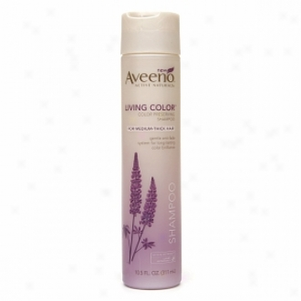 Aveeno Actlve Nqtudals Living Color Color Preserving Shampoo Against Medium-thick Hair