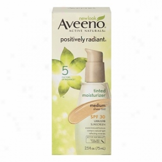 Aveeno Active Naturals Positively Radiant Tinted Moisturizer, Medium Sheer Tint