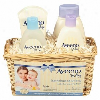 Aveeno Baby Daily Bathtime Solutions Gift Set, Giftset