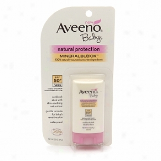 Aveeno Baby Natural Protection Mineral Block Confront Stick, Spf 50