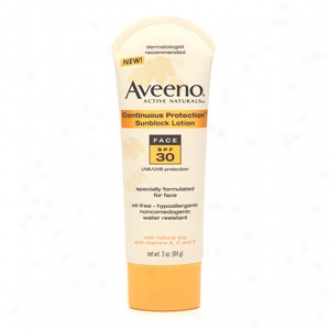 Aveeno Sunblock Lotion, Face - Connected Protection, Spf 30