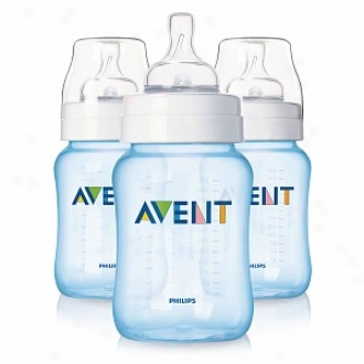 Avent Special Edition Natural Feeding Baby Bottle, 9oz, 0-6 Months, Blue