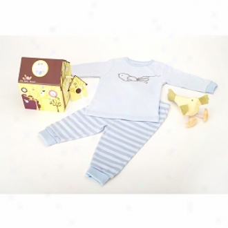 Baby Bunch Birdhouse Pajamas With Plush Bird Toy 12-18 Mo, Blue