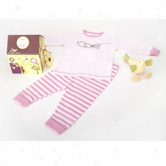 Baby Bunch Birdhouse Pajamas With Plush Bird Toy 3t, Pink