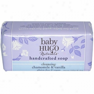 Baby Hugo Naturals Handcrafted Bar Soap For Baby, Shea Butter & Chamomile