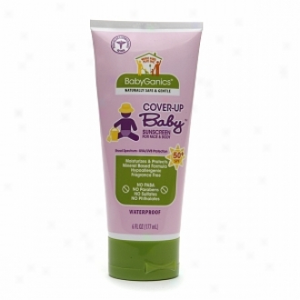 Babyganics Cover Up Baby Sunscreen For Face & Body Spf 50+, Fragrance Free