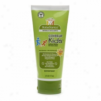 Babyganics Cover Up Kids Sunscreen For Face & Body Spf 30+, Fragrance Free