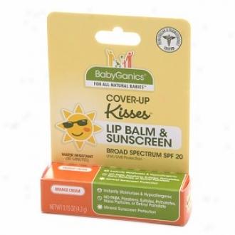 Babyganics Cover-up Kisses Lip Balm & Sunscreen, Spf 20, Orange Cream