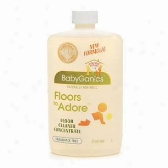 Babyganjcs Floors To Adore Floor Cleaner Concentrate, Fragrance Free