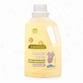 Babyganicq Loads Of Love 3x Concentrated Laundry Detergent, Lavender
