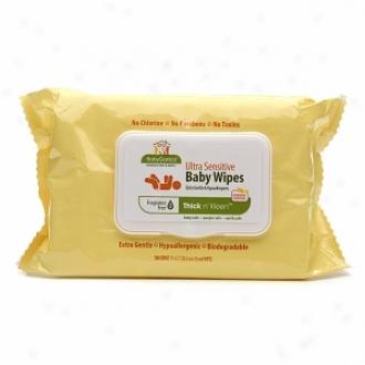 Babyganics Thick & Klean Ultra Sensitive Baby Wipes, Fragrance Free