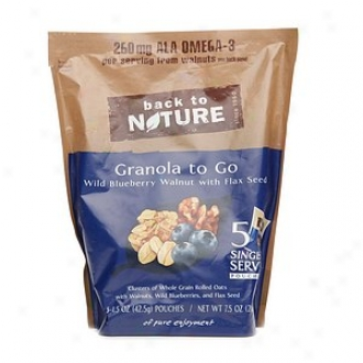 Back To Nature Granola To Go, Wild Blueberry Walnut With Flax Seed