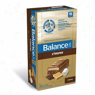 Balance Bar Gold Nutrition Bar With Threw Indulgent Layesr, S'mores