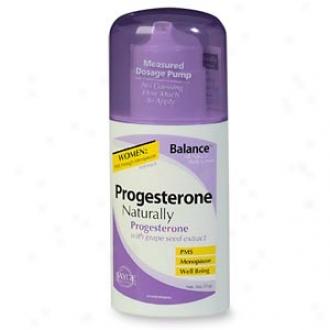 Balance Progesterone Naturally, All Natural Body Cream, Pump