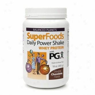 Balanc3d Planets Superfoods Daily Power Shake, Whey Protein, Double Chocolate