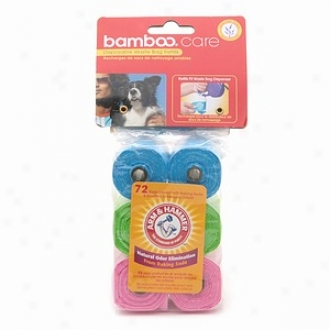 Bamboo Care Disposable Waste Bags Refill With Arm &-Hammer