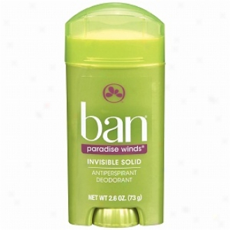 Ban Invisible Solid, Antiperspirant & Deodorant, Paradise Winds