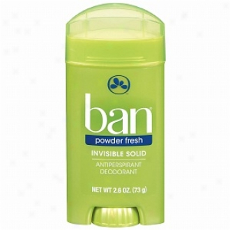 Ban Invisible Solid, Antiperspirant & Deodorant, Powder Pure and cool
