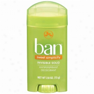 Ban Invisible Solid, Antiperspirant & Deodorant, Sweet Simplicity