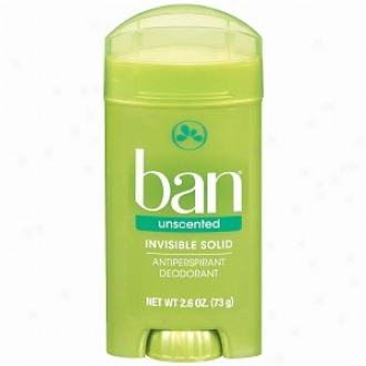 Ban Invisible Solid, Antiperspirant & Deodorant, Umscented