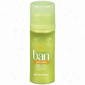 Ban Roll-on Antiperspirant & Deodorant, Fresh Cotton