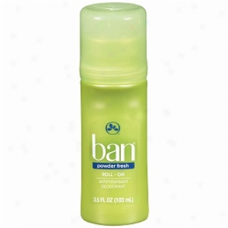 Ban Roll-on Antiperspirant & Deodorant, Powder Fresh