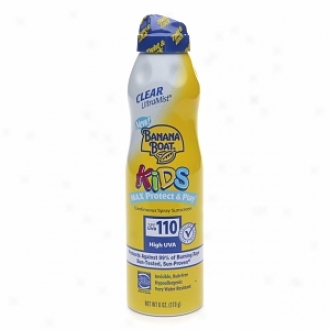 Banana Boat Kids Max Protect & Play Contonuous Spray Sunscreen, Spf 110